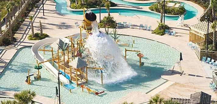 Kingston Plantation Condos, Myrtle Beach, Sc - Splash Water Park Aerial View