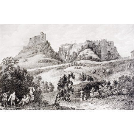 Carisbrooke Castle Near Newport Isle Of Wight England Where Charles I Was Imprisoned Before His Trial From Memoirs Of The Martyr King By Allan Fea Published 1905 Canvas Art - Ken Welsh Design Pics (1