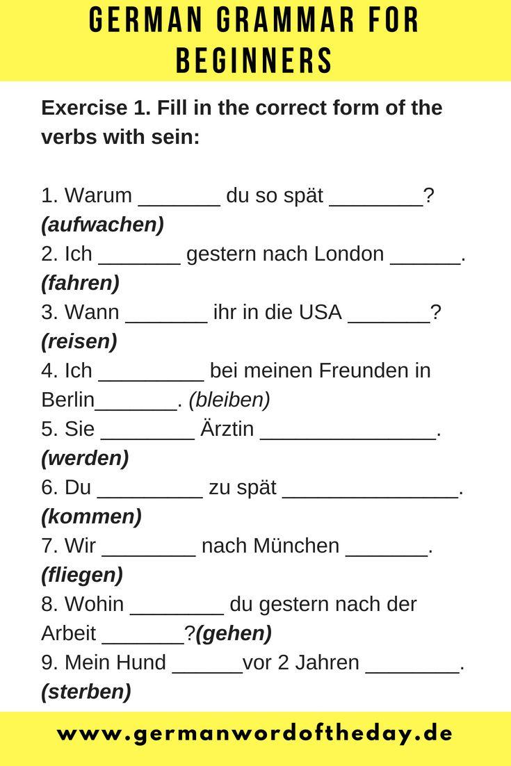 German For Beginners German Language Printable German