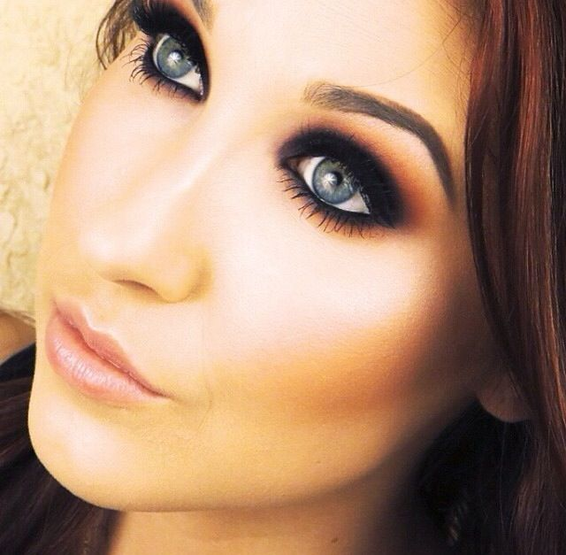 Jaclyn Hill- Fall Inspired Purple and Orange Smokey Eye (click on picture for YouTube tutorial)