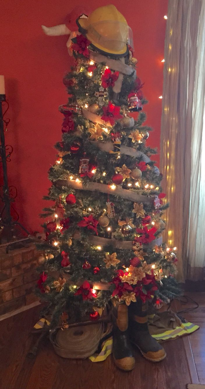 My firefighting Christmas tree297 best Fire Room FF Man Cave Ideas images on Pinterest   Fire  . Firefighter Room Decorations. Home Design Ideas
