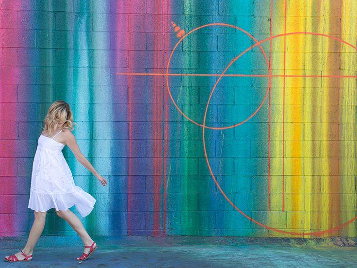 Art Center, artcenter, Instagrammable, paint, dripping, mural, street art, art center college of design, public art, pasadena charm, visit pasadena, pasadena, california, los angeles, Risk Rock, OUTSIDEIN installation, grafitti, photo opportunity, Southern California 897 S. Raymond Avenue, Pasadena, CA 91105