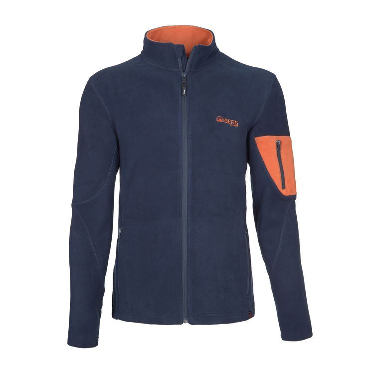 Full zip polar fleece with a stylish design and zippered pockets for light hikes and city walks.