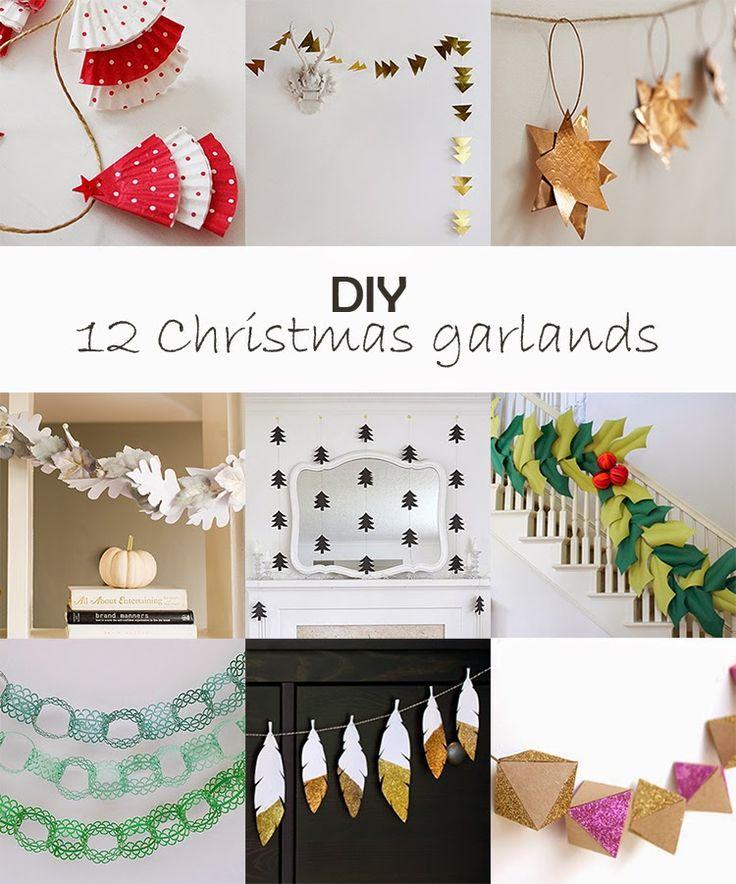 Ohoh Blog - diy and crafts: DIY Monday # Christmas garlands