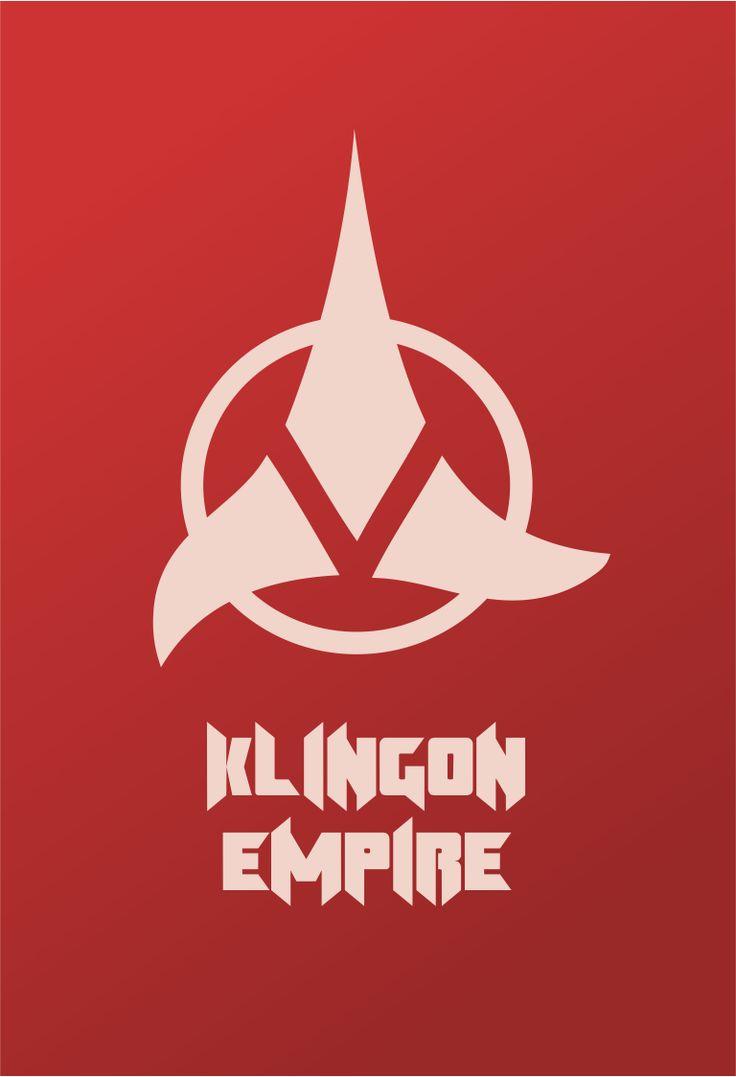 Star Trek Logo Klingon Empire Flat Design