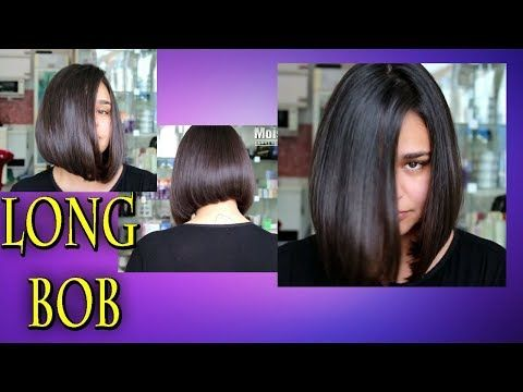Female Cut Long Bob or Chanel Moses Hairdresser – YouTube