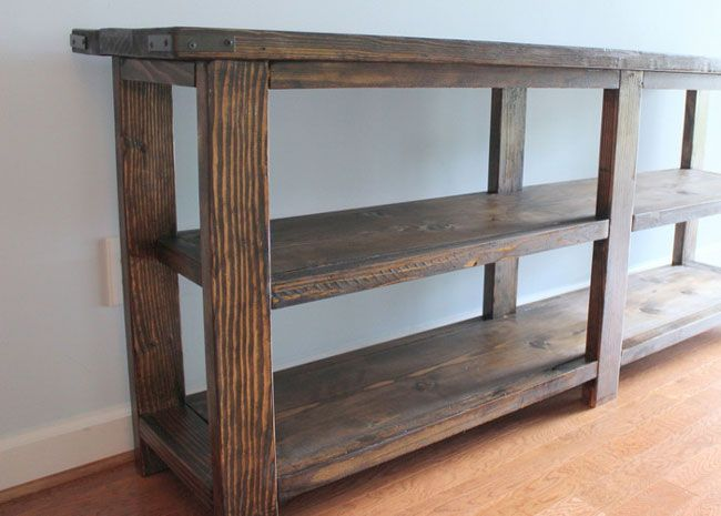 Console Tables 6 Foot Table Our Brown For Sofa Renovation Rustic