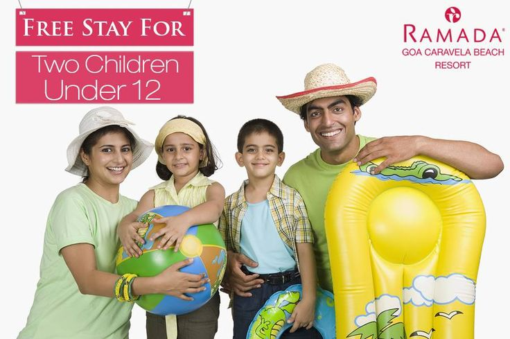 Add more happiness to your life. Plan a vacation with Ramada Caravela Beach Resort Goa and enjoy free stay for 2 children under 12. #KiddieFun #KidsVacation #Goa4Fun