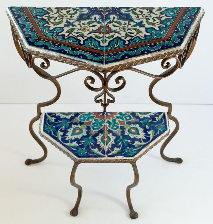 Turkish Iznik Wrought Iron Table | Curious Clay