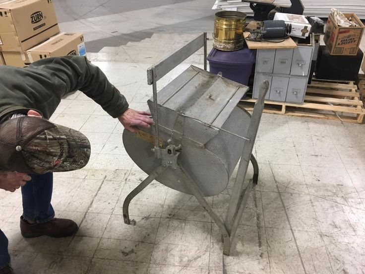 Antique clothes washer donated for the 2017 White Elephant Sale!