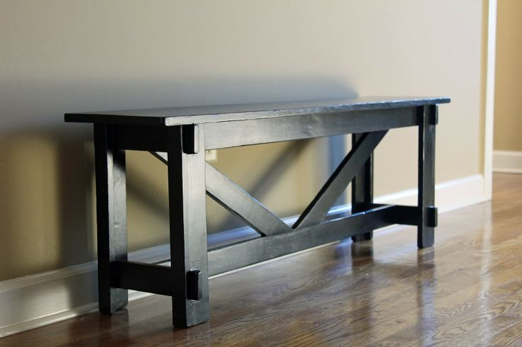 DIY Pottery Barn Knock Off Entryway Bench- My 2nd Ana White Plan