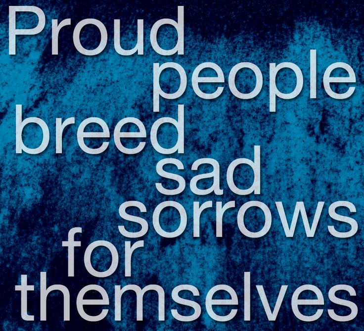 Proud people breed sad sorrows for themselves Emily