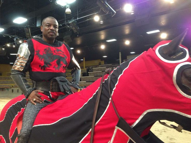 LeVar Burton as the Red Knight at Medieval Times!
