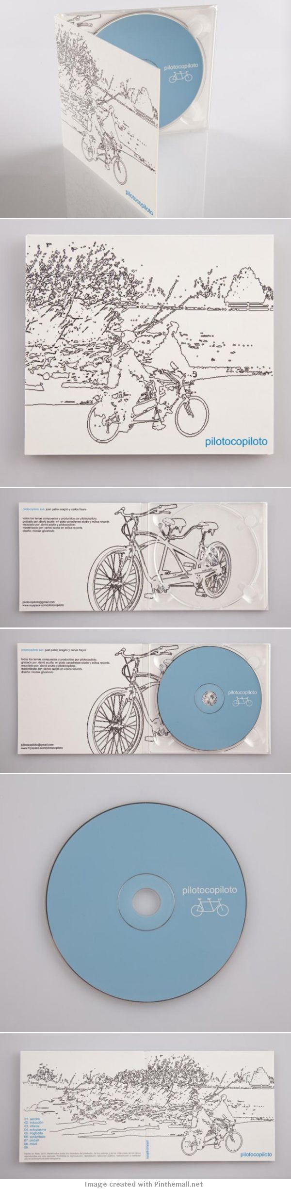 Wow! Check out this gorgeous illustrated album artwork from Pilotocopiloto!