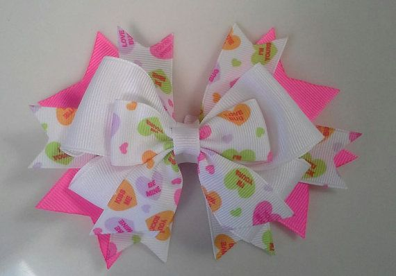 Valentine's Day Hair Bow for girls by TheJMarieBoutique on Etsy, $6.99