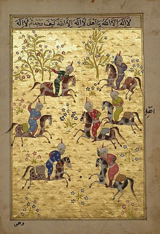 Miniature Painting of Polo Match