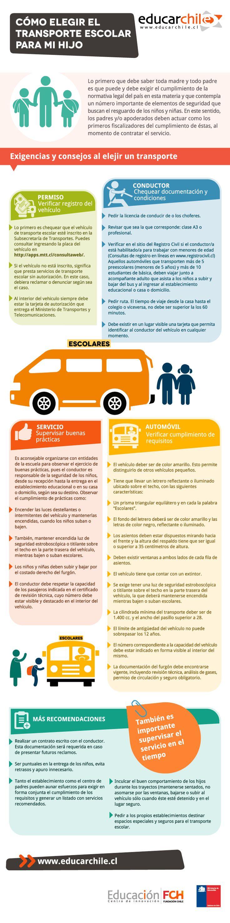 Te entregamos orientaciones respecto a qué información debes conocer y exigir en el momento de elegir el transporte escolar para tus  hijos.