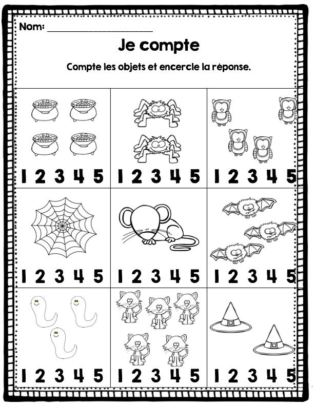 Printable Worksheets halloween worksheets kindergarten : 141 best activités pour Halloween images on Pinterest | Halloween ...
