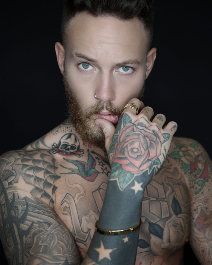 Northskull In The Press | Model @billyhuxley wears our Gold Frecce Cuff & Fence Ring for his latest shoot with @lewismagazine | Great shot ! #Northskullinthepress