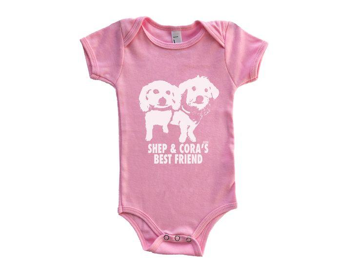 Shep & Cora's Bestie is gonna be wearing this custom onesie.