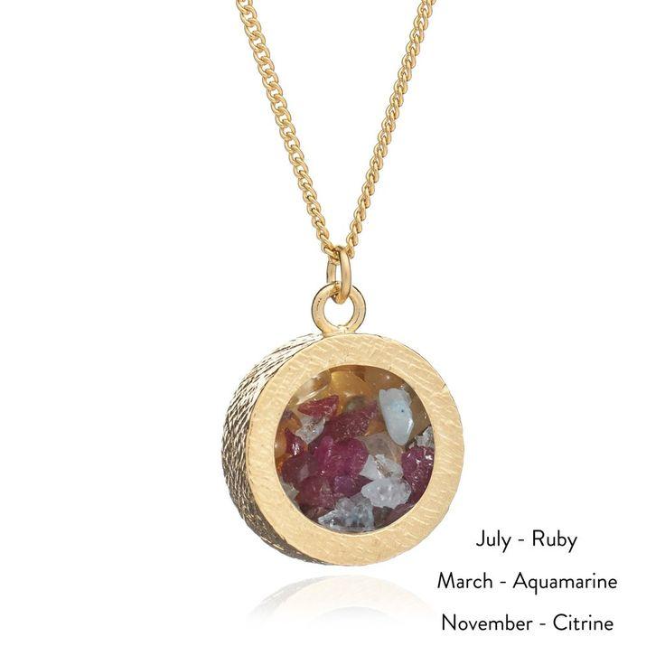 Mixed Birthstone Necklace - Rachel Jackson London