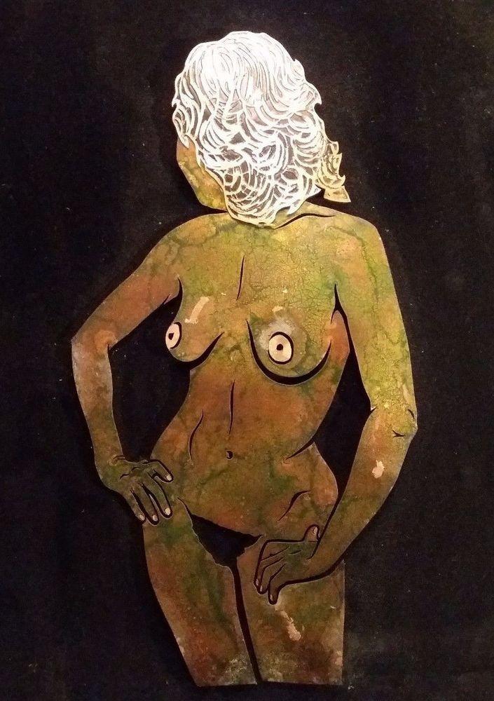 Vallauris sculpture Bernard L HUILLIER cuivre Vintage 1982 galerie la Colombe