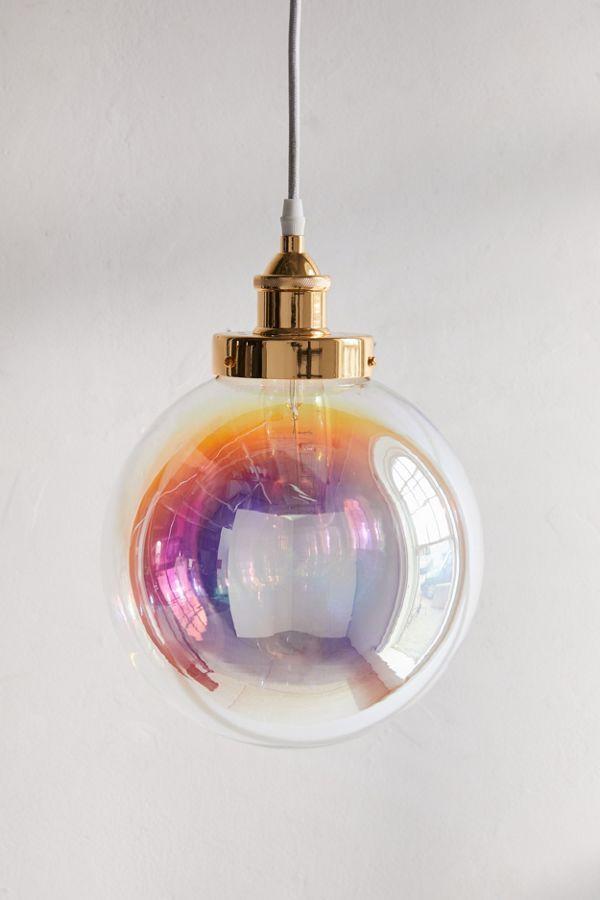 Rainbow Blown Glass Bubble Pendant Light Glass Blowing Glass