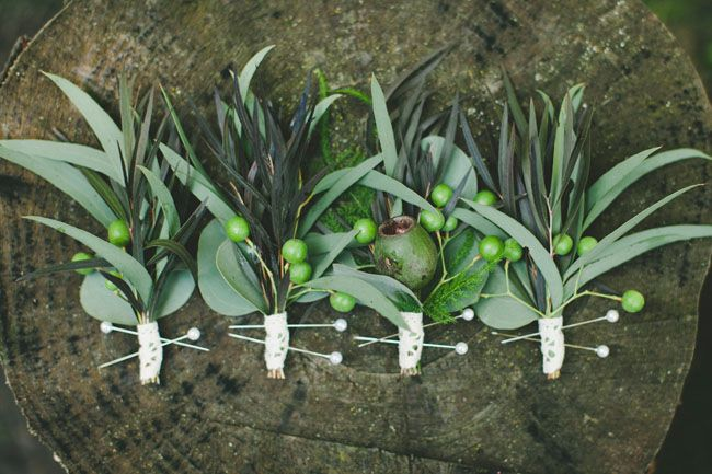 green boutonnieres