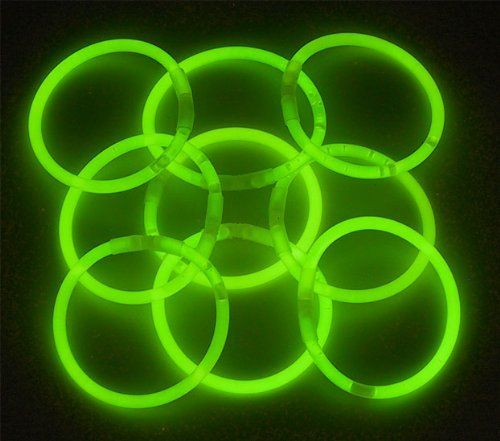 "8"" Lumistick Glowsticks Glow Stick Bracelets GREEN (Tube of 100) by LumiStick. $11.99. The best brand of glow sticks on the market.  You will receive 1 tube of 100 LumiStick luminescent light bracelets.  Your order will also contain 100 connectors so you can hook the ends together to make bracelets and necklaces.  Once they start glowing, LumiStick brand glow light bracelets will last you all night. They will glow super bright for 8 - 10 hours. Then, they will start to fade out b..."
