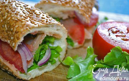 Рецепт – Сэндвич с копченым лососем