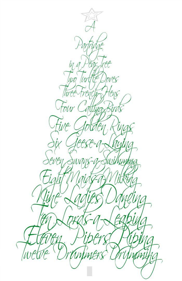 12 Days of Christmas - Free Printable    Fresh Idea Studio