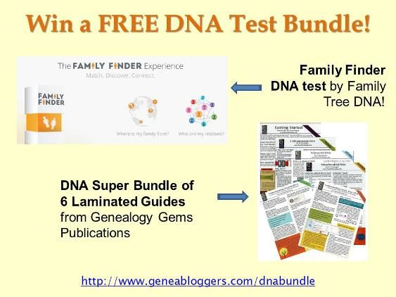 Win a Family Finder DNA test by Family Tree DNA plus • DNA Super Bundle of 6 Laminated Guides from Genealogy Gems Publishing #genealogy