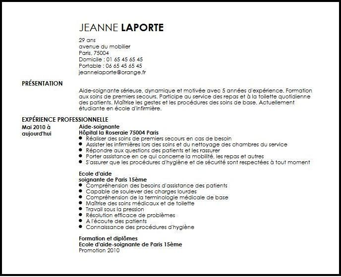 42 Exemple Cv Belgique Exemple Cv Modeles De Lettres Aide Soignante