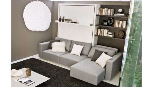 Elegant The Swing is a self standing queen size murphy bed with a sofa and sliding chaise Swing also provides additional storage under the sofa Simple Elegant - Luxury hideaway bed sofa New Design