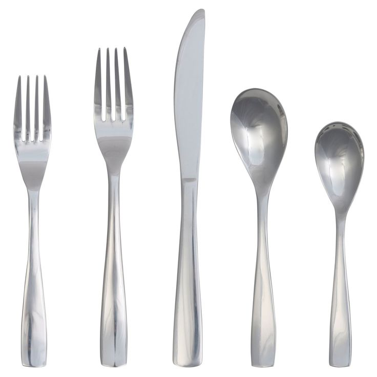 Emery Silverware Set 20-pc. Stainless Steel - Threshold, Silver