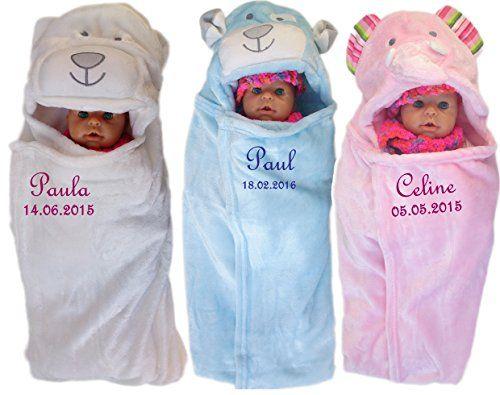 Baby Einschlagdecke mit Namen bestickt Babydecke 3d Kapuze Geschenk Taufe Geburt (hellblau)  http://www.geschenkewebshop.info/produkt/baby-einschlagdecke-mit-namen-bestickt-babydecke-3d-kapuze-geschenk-taufe-geburt-hellblau/