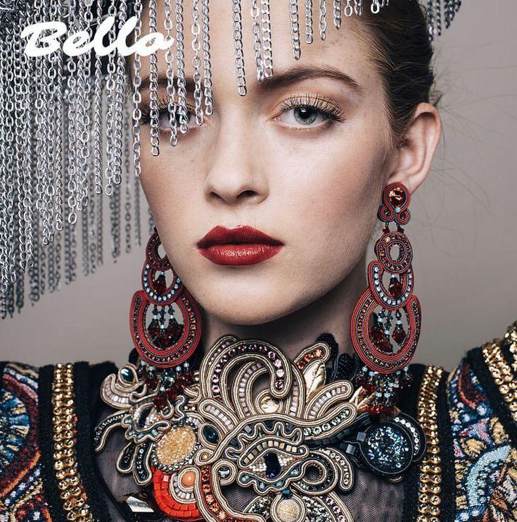 "Actor Larsen Thompson is wearing our couture earrings & choker for ""God Save The Princess"" fashion story on Bello magazine. #doricsengeri #larsenthompson #couturejewelry #designerjewelry #bellomagazine #fashionmagazine #statementearrings #statementchoker #wearableart #highfashion #luxurybrand"