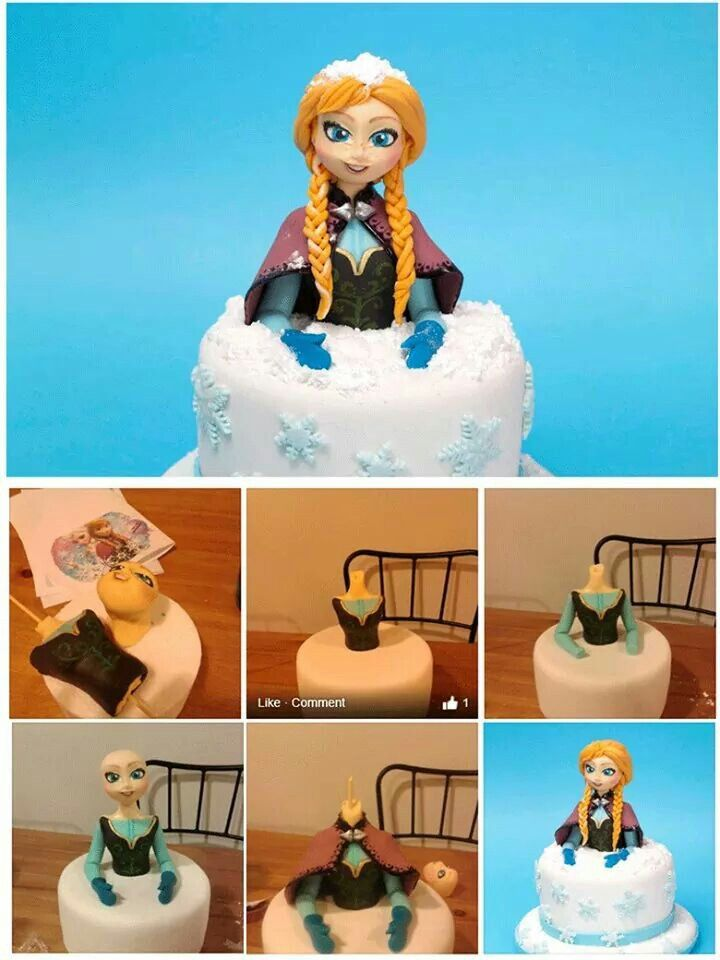 Anna from Frozen cake tutorial