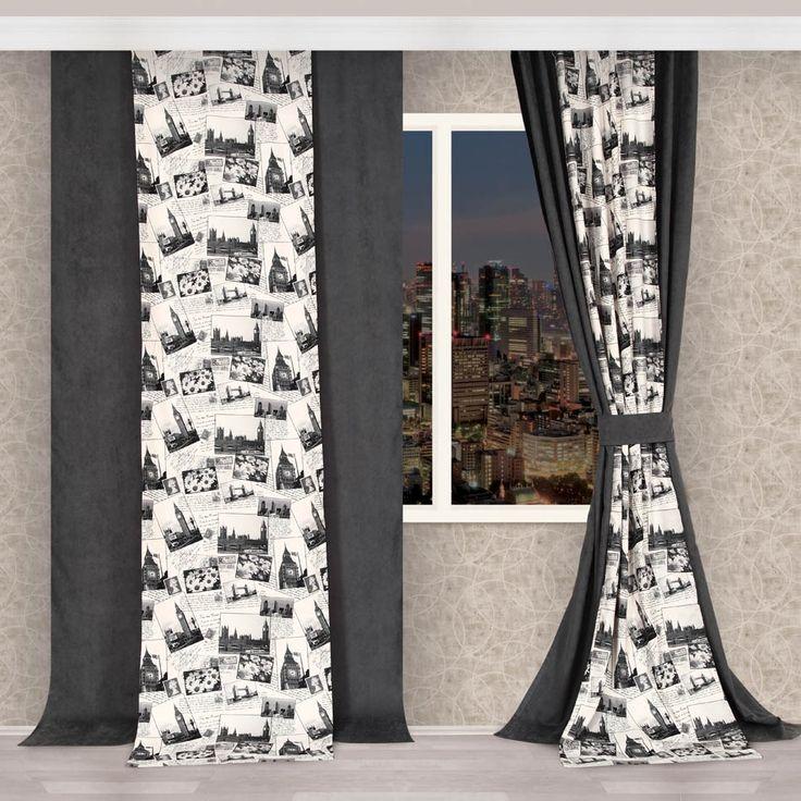 Ev Tekstili| Apolena Perde| Fon Perde, | APOLENA, | APOLENA SİYAH BEYAZ KARELER FON PERDE, | perde, fon perde, desenli perde, baskılı perde