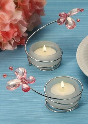 Butterfly Candle Holders x 2