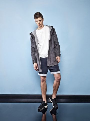 MALE LINEN DARK GREY PARKA Men Parka Spring Summer Collection by Keyce
