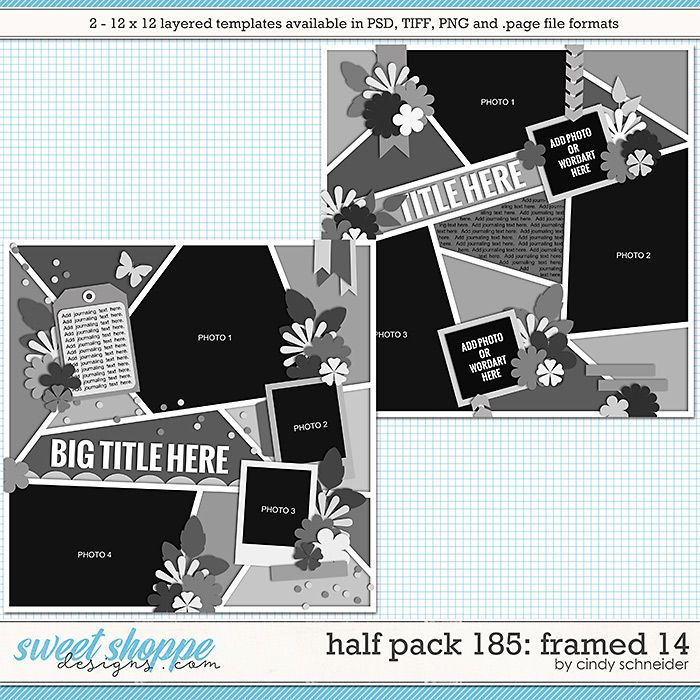 Cindy's Layered Templates - Half Pack 185: Framed 14 by Cindy Schneider