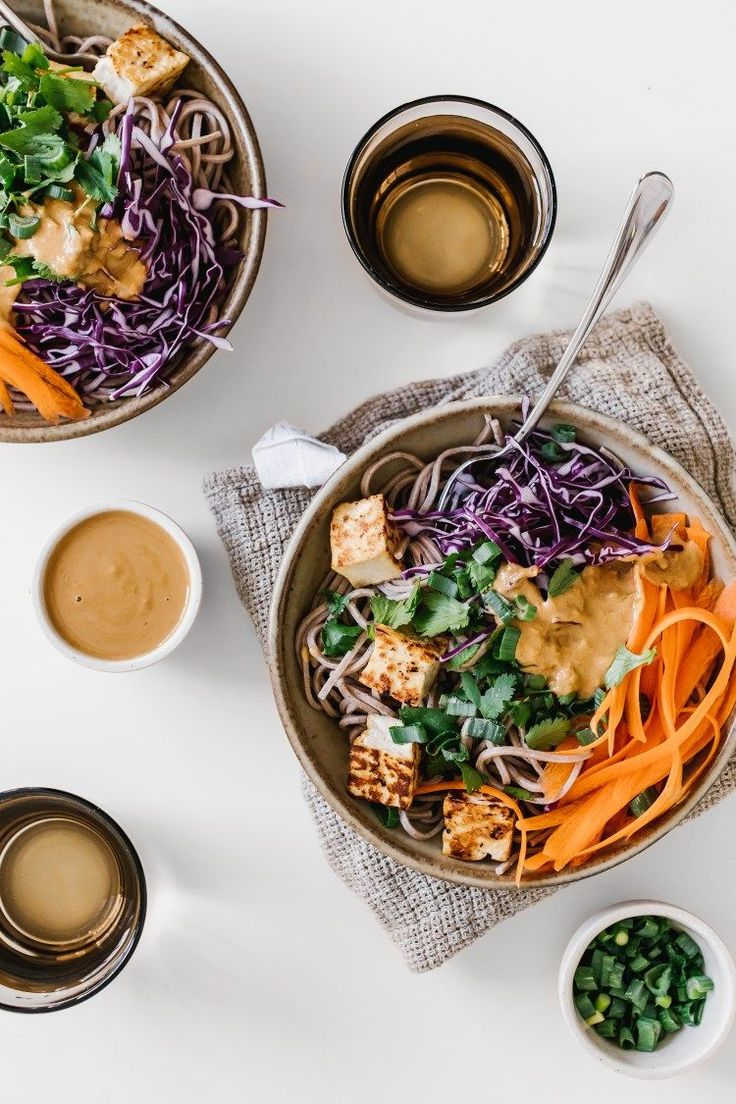 Sesame Citrus Soba Salad on Faring Well from #PowerPlates | Pinned to Nutrition Stripped | Entree