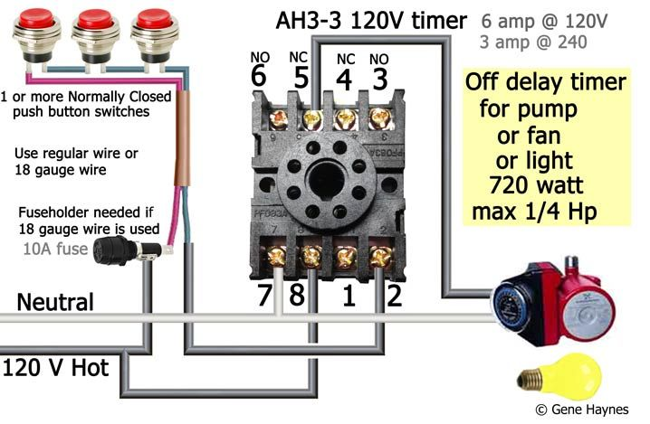 Ah3 Delay Timer Wiring With Push Button Timer Electrical Circuit Diagram Basic Electrical Wiring