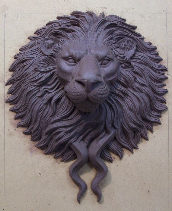 Large Bronze Lion Head Door Knocker Pull Figurative
