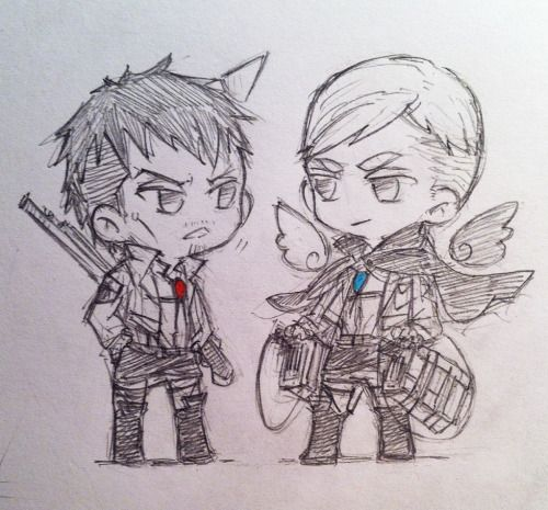 jieshark:awwww( ´ 艸 ` ) - Erwin and Nile