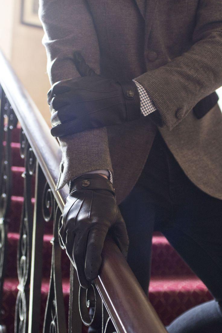 Gaspar leather driving gloves - Gaspar Leather Driving Gloves 38