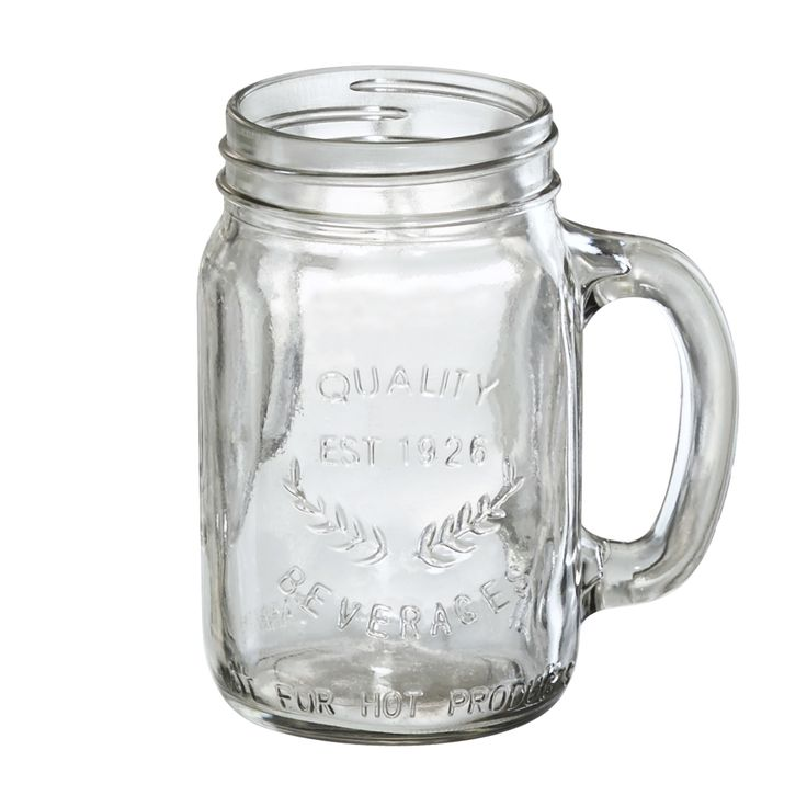 Oasis Mason Jar with Handle
