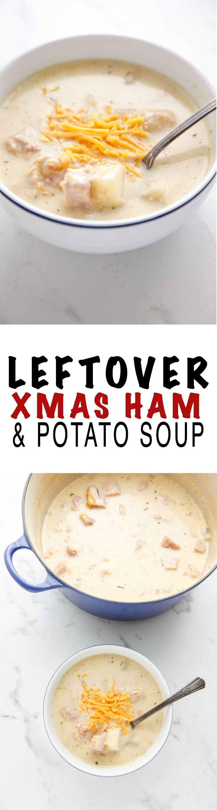 Leftover Ham and Potato Soup via @thebrooklyncook