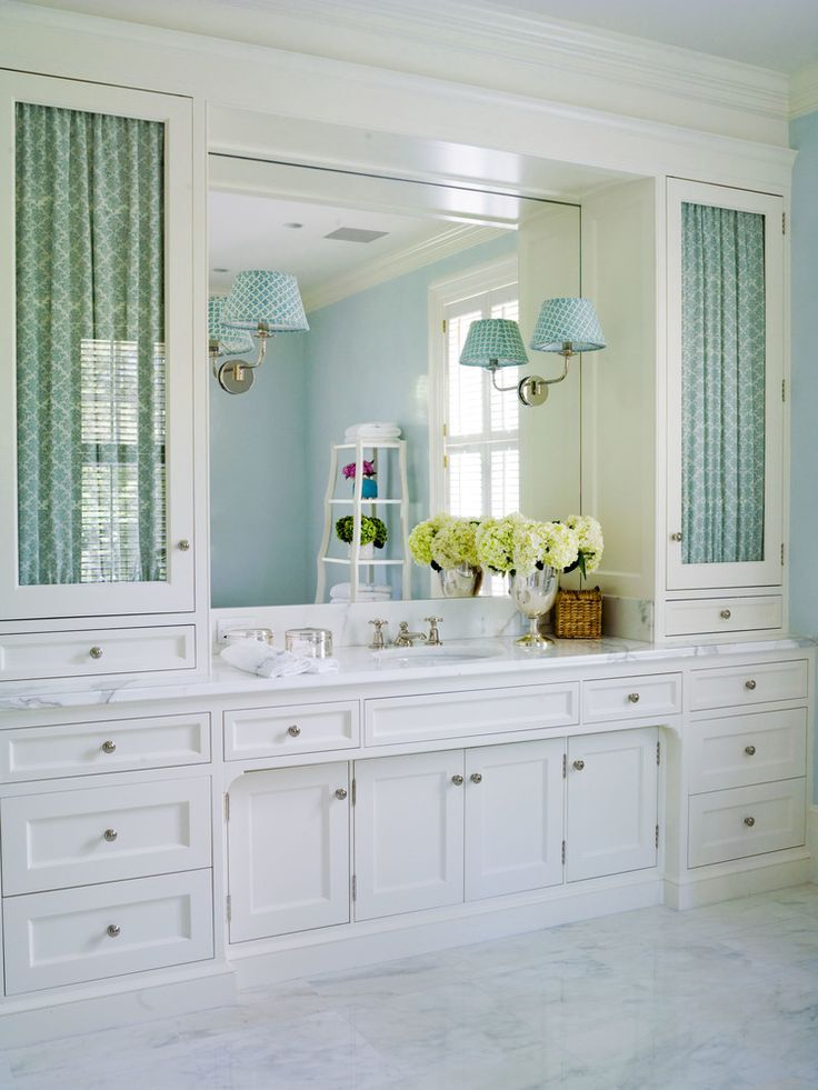Bathroom Fabric Behind Glass Doors Lee Ann Thornton